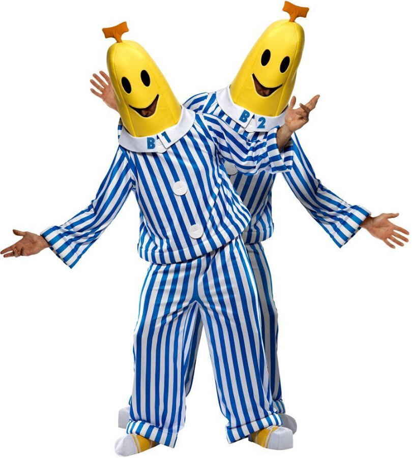 Cosplay Bananas In Pyjamas Costume TV Show Costume Bananas In Pajamas Costume Bananas Costume