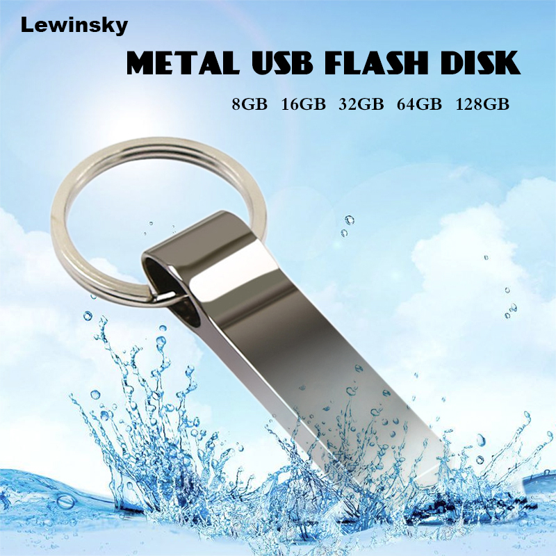 Waterproof Pendrive 2.0 USB Flash Drive 32GB 64GB 128GB 8GB 16GB Memoria Metal Stick High Speed 16 32 64 8 128 GB Pen Drive P5