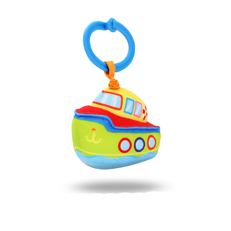 Манеж плюшевые детские погремушки тянуть ударные игрушки 0-12 месяцев автомобиля ракеты Лодка Самолет подводной лодки детская кровать коляс...