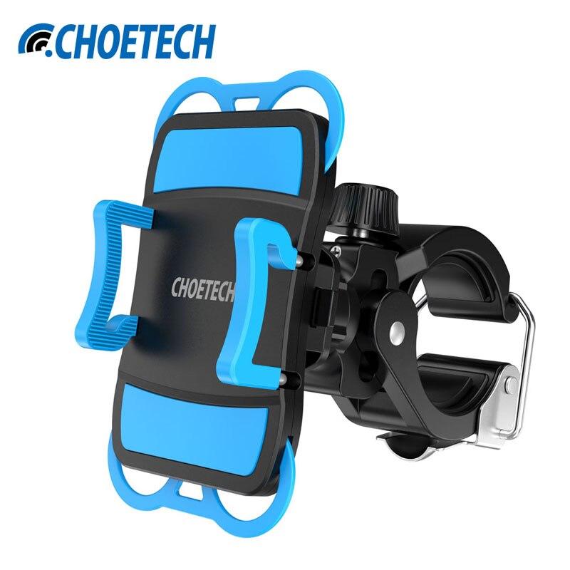 """Цена за Choetech 360 градусов вращения велосипед держатель Регулируемая 1.9 """"-3.9"""" мотоцикл Телефон Стенды для Samsung для iphone 6S"""