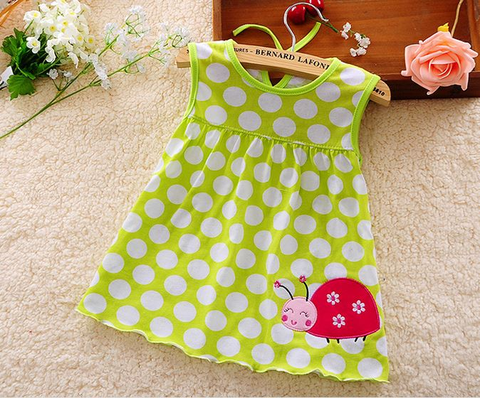 2017-other-new-baby-cute-girl-wearing-a-sleeveless-dress-to-wear-casual-clothing-cotton-100-conventional-micro-Princess-0-24-mo-5