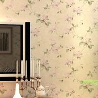 American Style Wall Paper Vintage Pastoral Floral Wallpaper Roll Tapete Non Woven Bedroom Background Decor Papel