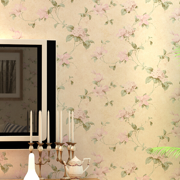 beibehang American style wall paper vintage Pastoral floral wallpaper roll tapete bedroom background decor papel de parede 3d beibehang pastoral wall paper bedroom