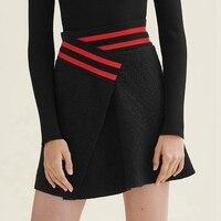 High Waist Skirt Women Black Mini Skirts 2017