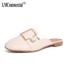 Slippers Female Spring Summer Flat Bottom Outside Slippers Pearl Muller Shoes Female Sandals Women Wedges Sandals Flip Flops