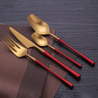 24 Pcs/set Cutlerly Set 304 Stainless Steel Dinnerware Luxury knife Fork Set Western Cutlery Kitchen Food S poon Set Tableware