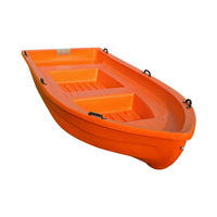 Orange Double Hard PE Plastic Boat Fishing Boat Ship Simple Boat Kayak Water Sports Entertainment