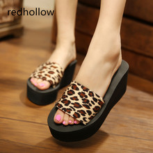 Women Slippers Summer Platform Shoes Beach Slip On Sandals High Heel For EVA Comfortable Slides 8 Color