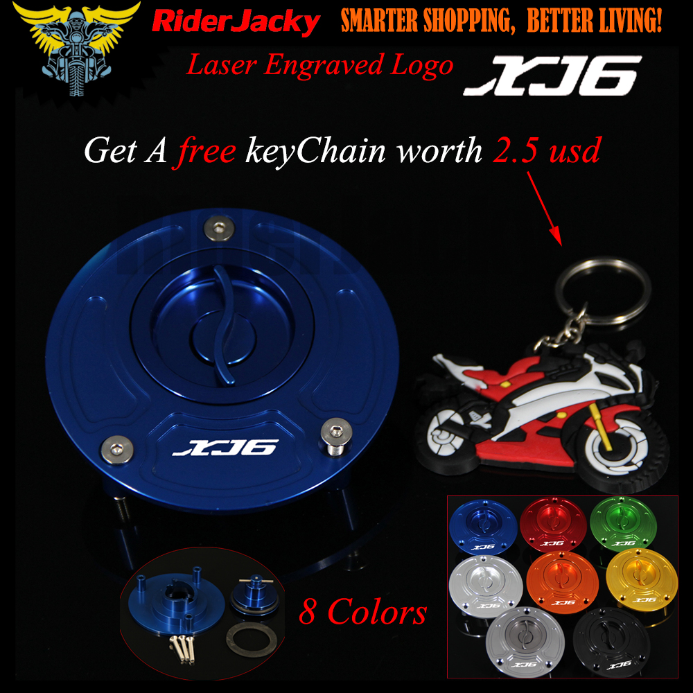 Blue Red CNC Aluminum Keyless Motorcycle Accessories Fuel Gas Tank Cap Cover For Yamaha XJ6 DIVERSION 2009-2015 2012 2013 2014