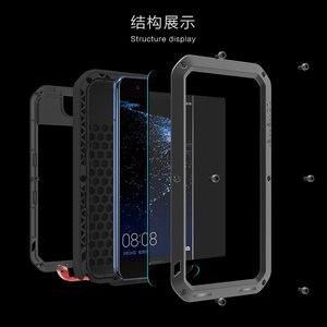 Image 2 - Love Mei Métal étui pour Huawei P10 P10 Plus Antichoc Couverture de Téléphone Pour Huawei P10 Plus Robuste Corps Entier Anti Chute Étui Darmure