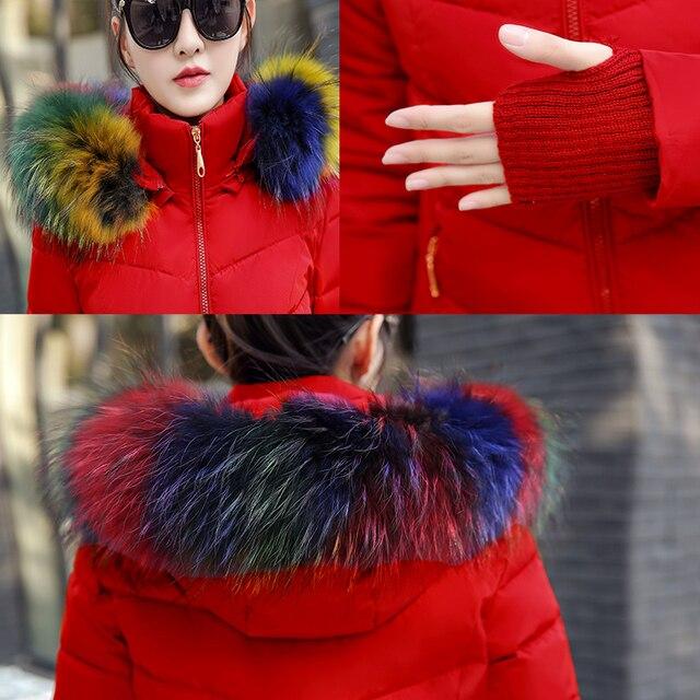 2017 quality winter jacket coat warm Long women parka Artificial false raccoon fur collar women Winter coat slim Female jacket