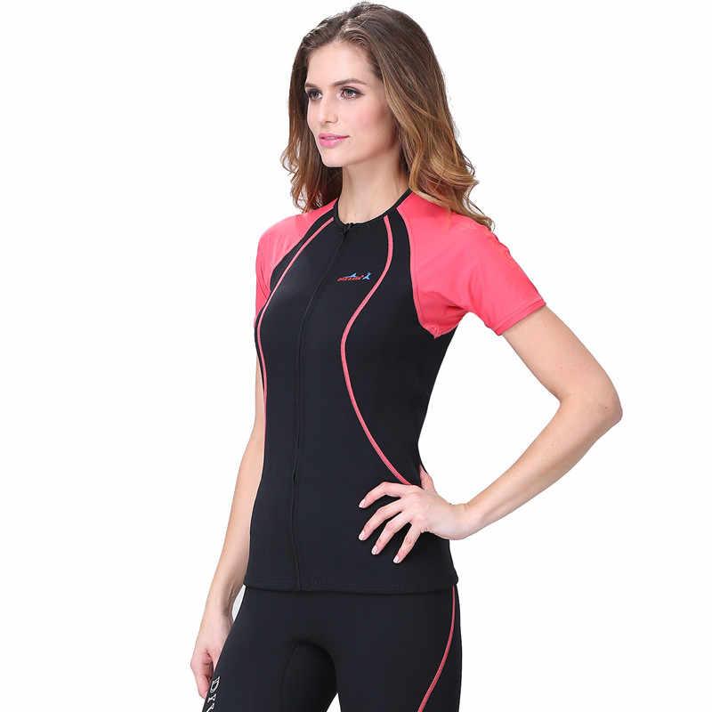 UV Snorkelen Wetsuit Vrouwen Zwemmen dragen Korte mouwen Duikpakken Full body zwemkleding