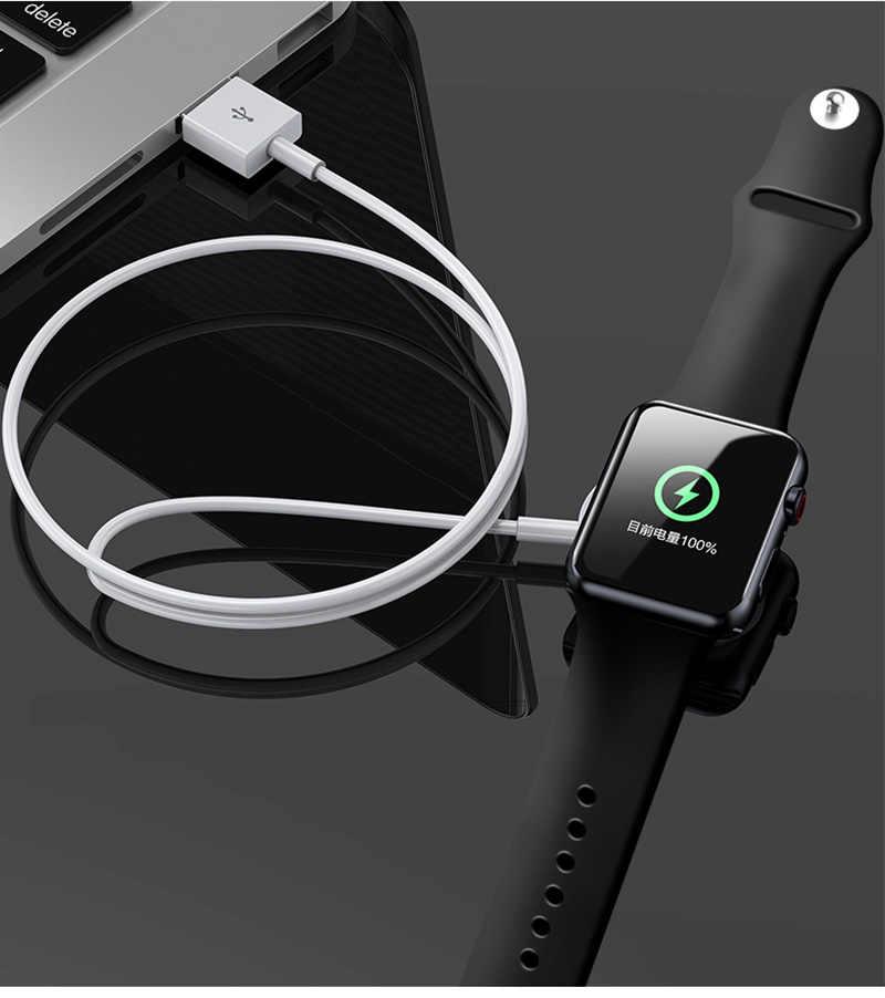 Cargador magnético para apple watch carga inalámbrica USB para iWatch Series 4 3 2 1 cargador rápido 1 M para apple watch