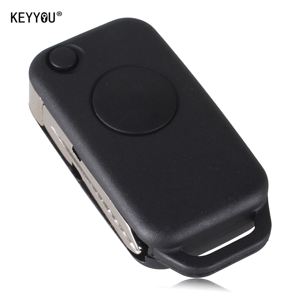Keyyou 1 button flip folding keyless entry remote key fob for Mercedes benz keys replacement cost