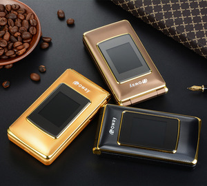 """Image 3 - Flip 2.8"""" touch GSM cell phones MP3 speed dial SOS calling record celular senior cheap mobile phone telefon clamshell phone"""