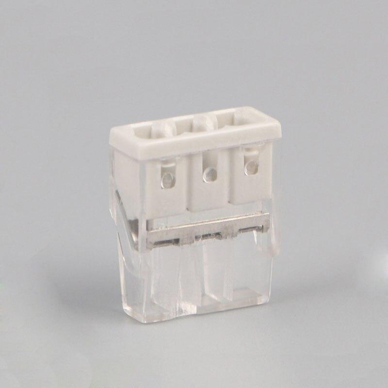 WAGO 2017 dernière connecteor Livraison gratuite 3 Pin Universal compact fil câblage Ligne connecteur conducteur bornier esprit