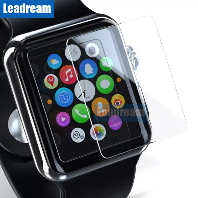 100PCS Free DHL for Apple Watch 1 2 3 4 9H Screen Protector Tempered Glass 38mm