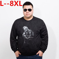 10XL 8XL 6XL 5XL 2018 spring New Long Sleeve T Shirts Men Loose Fit Letter Fashion 100% Pure Cotton T Shirt Male Tops Pullover