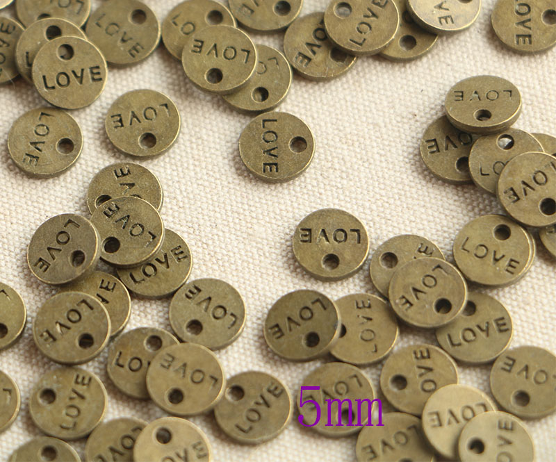 50pcs BRONZE Plated plates hand made Charms Pendants for Jewelry Making DIY Hand
