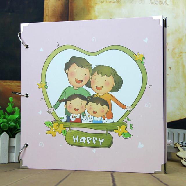 New Creative DIY 29*29 cm Big Photo Album Wedding Photos Children Family Memory Record Scrapbooking Album Lovers Birthday Gift