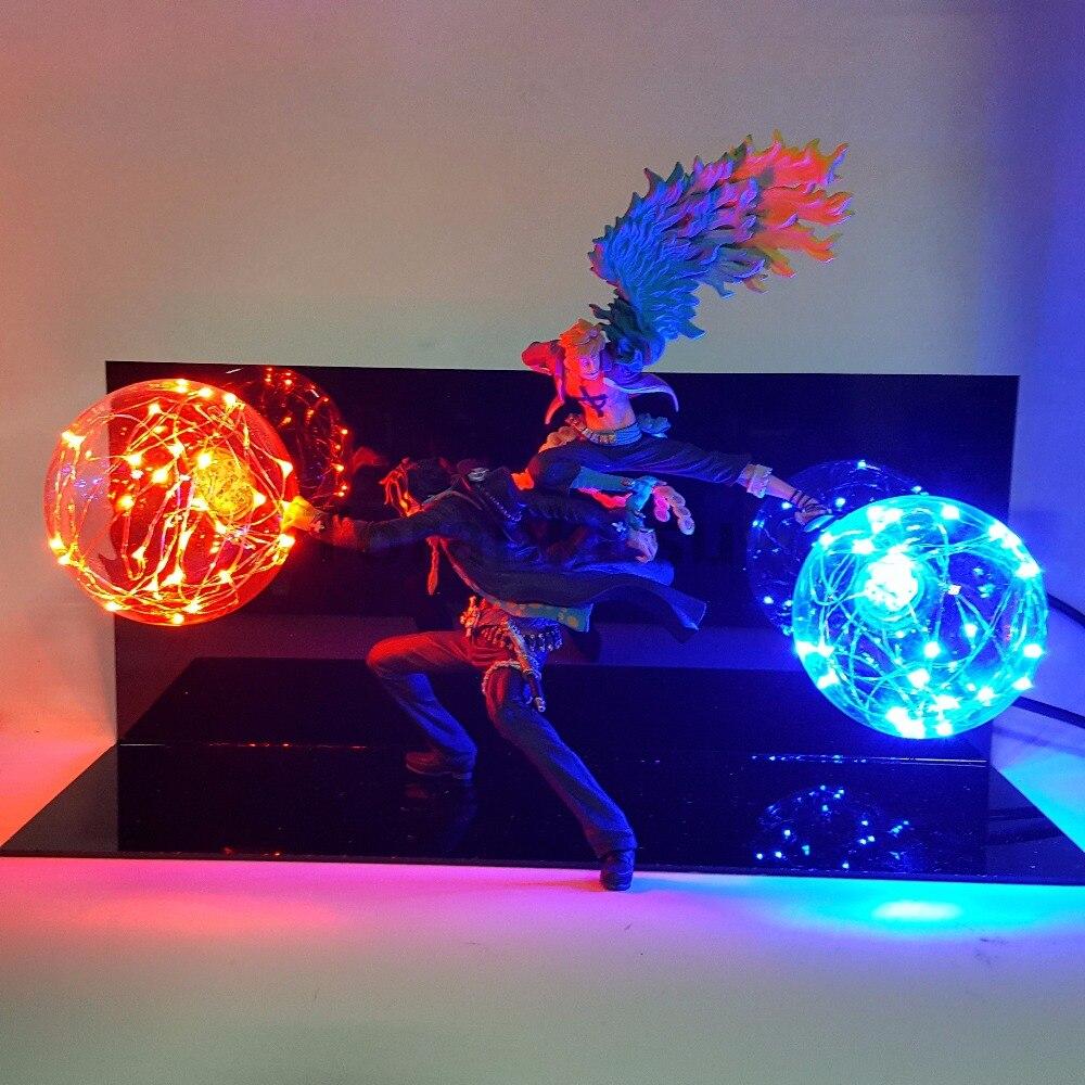 Uma peça marco ace figura de ação conduziu a lâmpada mesa modelo brinquedo uma peça anime marco ace equipe cooperação diy conjunto brinquedos para meninos
