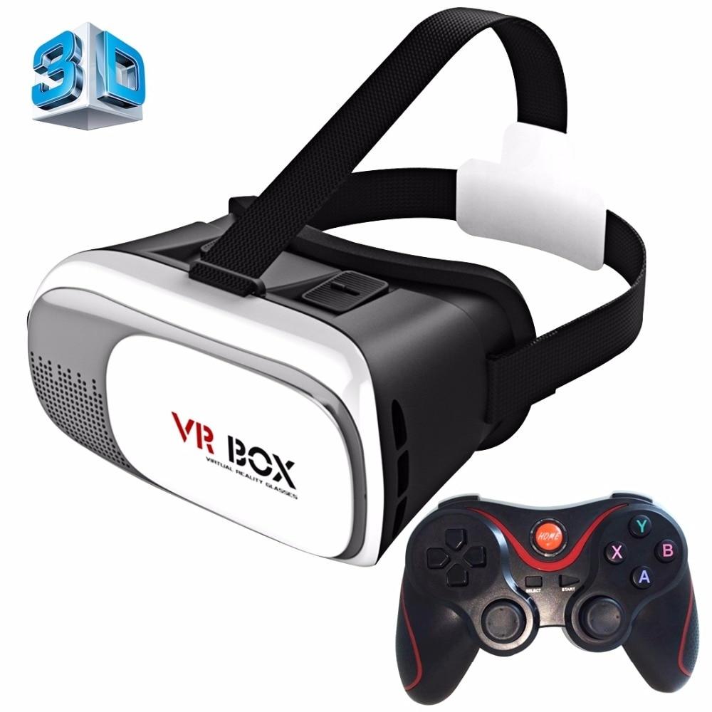<font><b>VR</b></font> <font><b>Glasses</b></font> <font><b>Box</b></font> Cardboard <font><b>VR</b></font> <font><b>BOX</b></font> 2.0 <font><b>Universal</b></font> <font><b>Virtual</b></font> <font><b>Reality</b></font> 3D Video <font><b>Glasses</b></font> with Gamepad <font><b>for</b></font> 3.5 to 6 inch Smartphones