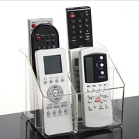 6 Slot Clear Acrylic Home Desk TV Air Conditioner Remote Control Storage Holder Organizer Stand