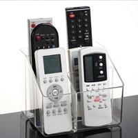 NC 6Slot TV Remote Control Holder Box Transparent Acrylic Desktop Finishing Organizer Storage Box Cosmetic Makeup