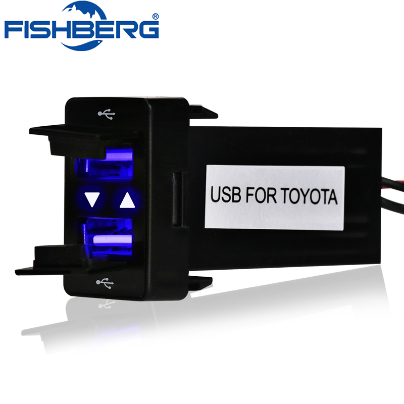 12V 24V Dual USB Car Charger For TOYOTA USB 2.1A 2 Port Auto Power Adapter Socket For Iphone Sumsang Tablet Car Styling цены онлайн