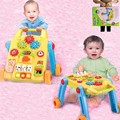 Baby Music Game Table Multifunction 2 In1 Early Childhood Folding Baby Boy First Walkers With Wheels Toy 0-1 Years