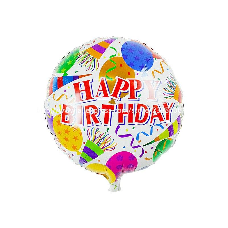 50pcs/lot 45*45cm New Foil aluminum balloons Happy birthday balloons wholesale c