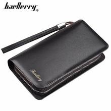 Baellerry Men Long Wallets Double Zipper Phone Pocket Card Holder Large Capacity Men Purse Business Multifunction Male Wallet недорого