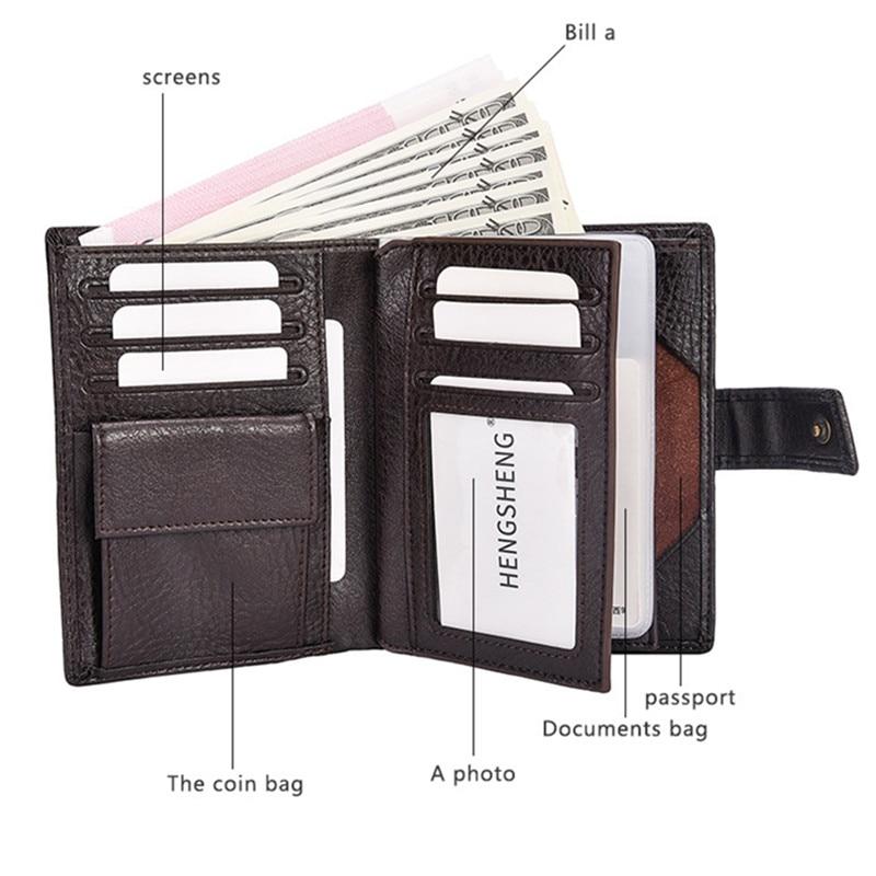 2017 varumärke Hengsheng manens plånbok högkvalitets hasp - Plånböcker - Foto 2