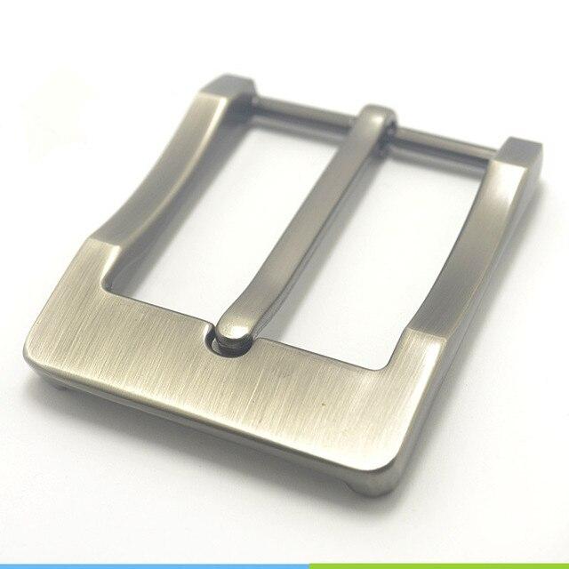 מתכת 4cm חגורת אבזם גברים של מזדמן סוף בר העקב בר סיכה אחת חגורת חצי אבזם עור קרפט ג ינס חגורה fit עבור 38mm חגורה