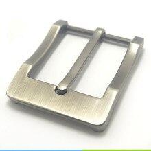 Metal 4cm Belt Buckle Mens Casual End Bar Heel bar Single Pin Belt Half Buckle Leather Craft Jeans Webbing fit for 38mm belt