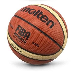 Image 1 - Groothandel Of Retail Nieuwe Merk Hoge Kwaliteit Basketball Ball Pu Materia Officiële Size7/6/5 Basketbal Gratis Met Net Bag + Naald