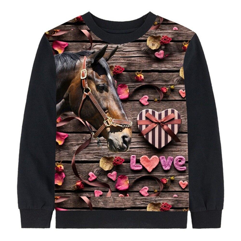 c45b014417dea Roupas menino tees outono crianças tops bebê marca menina manga Comprida  tops criança cavalo amor roupas
