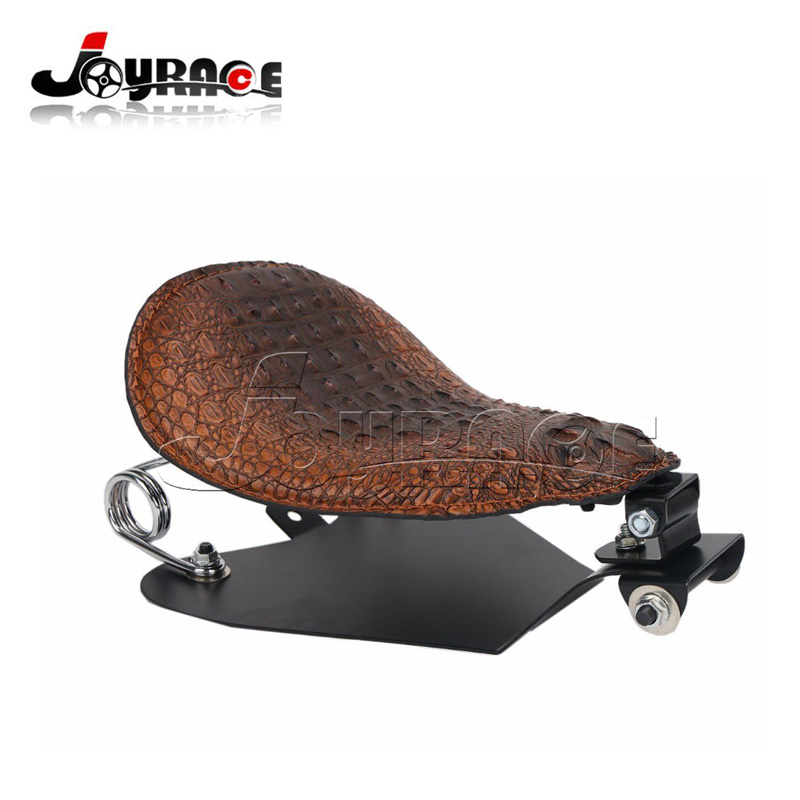 Motorcycle SOLO Alligator Seat Frame Cover Coil Spring Base Bracket For  Harley Sportster Softail ...