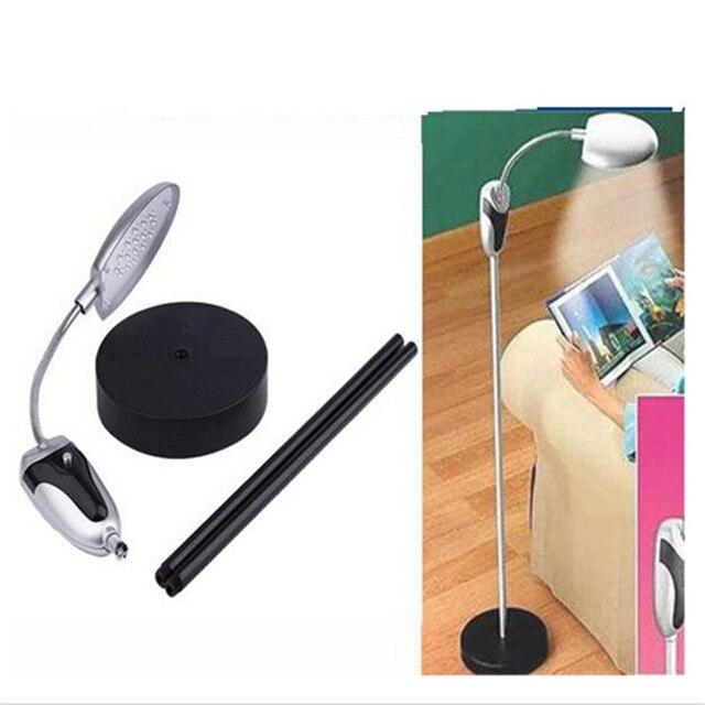 1Pcs 16LED Flexible Desk Modern Floor Lamps For Living Room Office Reading Wireless Standing Cordless