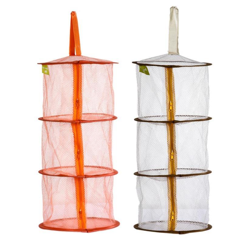 Hot Selling 3 Shelf Hanging Zipper Storage Net Organizer Bag Door Wall Closet Organize