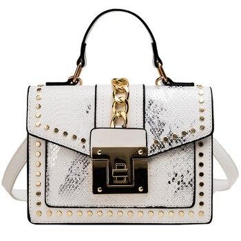 Ladies Shoulder  Leather Zip Lock  Bags 8