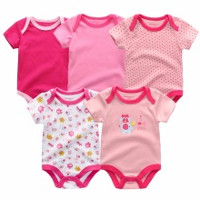 5PCS/LOT Unisex Top Quality Baby Onesies