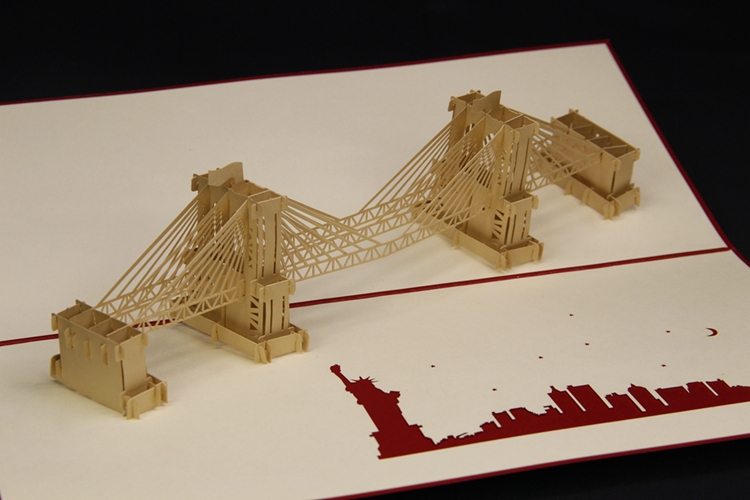 aliexpress  buy d pop up brooklyn bridge postcards, creative, Greeting card