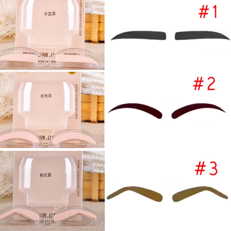 Diligent Huamainli Eyebrow Template Stamp Sponge Stencils Eye Lazy Quick Makeup Tool Seal Cream Beauty Essentials