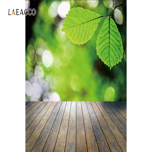 Image 3 - Laeacco Flowers Bokeh Wooden Floor Spring Backdrops Baby Newborn Portrait Photography Backgrounds Photophone Photocall Photozone