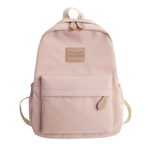 Pink Backpack Brand High Quality Water proof Nylon Leisure Or Travel Bag Solid Japanese style Package With Chinese characters