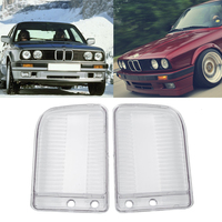 1 Pair Car Headlight Lens Clear Shell cover Left & Right Lamp Assembly Lampshade Cover For BMW E30 1984 1991