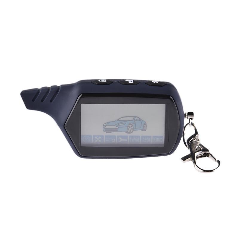 Sistema Anti-robo A91 2 LCD llave de Control remoto Fob llavero Vehículo de seguridad dos coche sistema de alarma starline 91