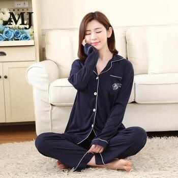 MJ016A Korean Sleepwear Pijamas Mujer Pajama Set Kigurumi Pajamas Pyjama Femme  Night Suit Primark Pyjamas Women Pijama Pyjamas fresh leaf pyjamas women 2020 autumn fall stitch pijamas set 100