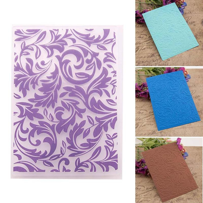 Stamping Floral Leave Pattern Diy Paper Craft Decoration Plastic Embossing Folder Template Scrapbooking White Card Making